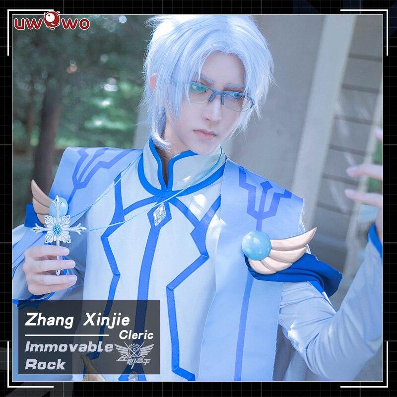 UWOWO Immovable Rock Cosplay The King's Avatar Costume Zhang Xinjie Cleric Quan Zhi Gao Shou Costume Men