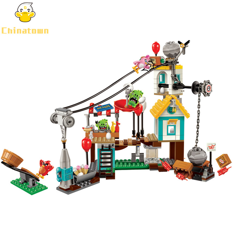BELA Pig City Teardown Building Blocks Sets Bricks Birds Model Kids Classic Toys For Children Gift Compatible Legoings Friends 449pcs bela 10295 laval s fire lion model diy building blocks for children sets classic bricks toys compatible with lego