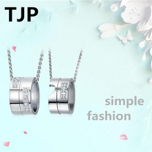 TJP 2018 New Arrival Couple Pendant Necklace Jewelry Fashion 925 Sterling Silver For Women Bride Wedding Promise