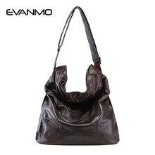 4a407ef5414d 2018 модная женская сумка из натуральной кожи Повседневная сумка-хобо  женская сумка на плечо мягкая