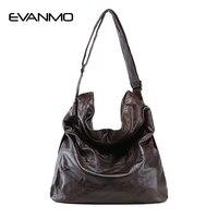 2018 модная женская сумка из натуральной кожи Повседневная сумка-хобо женская сумка на плечо мягкая большая сумка-мешок для покупок сумка из ...