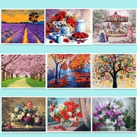 Hot Selling Frameless Pictures DIY Painting By Numbers Hand Painted Oil On Canvas Wall Painting Home