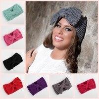 Wholesale Ear Winter Crochet Headband For Women Hair Band Turban Headband Girl Headwrap Top Knot Hairband