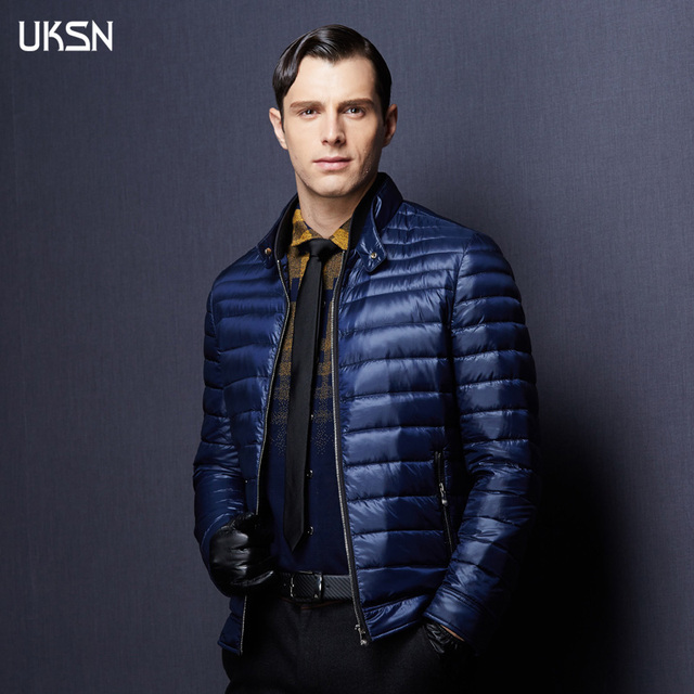 2016 Spring Duck Down Jacket Mens 90% Down Quilted Jacket Male ... : down quilted coats - Adamdwight.com