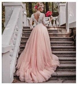 Image 3 - SoDigne Top Lace Appliques Wedding Dresses 2019 New Design Backless Bride Dress Long Train Dress White Ivory Wedding Gowns