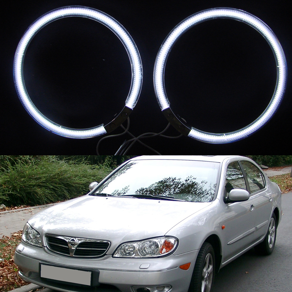 White Red Blue Ccfl Angel Eyes Kit White 7000k Ccfl Halo Rings Headlight for Nissan Maxima A33 2004 2 Rings + 1 CCFL Inverter купить