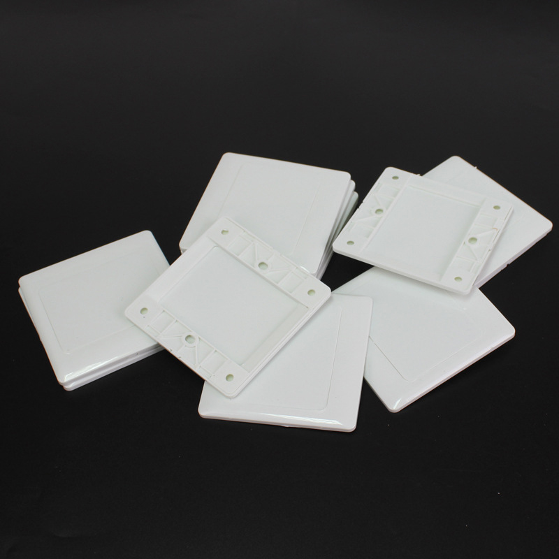 10pcs  Type 86 Electric Wall Switch Socket Blank Cover Panel White ABS Outlet Cover Plate