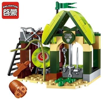 112pcs War of Glory Castle Knights Elfin Range Building Blocks Sets Juguetes House Figures Bricks Educational Toys for Children