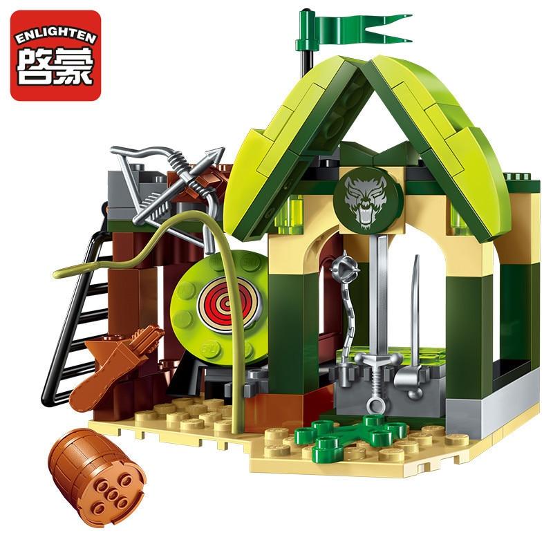 112pcs War Of Glory Castle Knights Elfin Range Building Blocks Sets LegoINGLs Juguetes House Figures Bricks Toys For Children