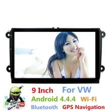 Para VW 9 Pulgadas Android 4.4 GPS de Navegación de Radio Estéreo Del Coche reproductor Multimedia Construido en Bluetooth WIFI FM Para Volkswagen Bora Jetta