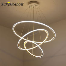 Led Chandelier Lamp For Living room Dining room Kitchen Light Fixtures Modern LED Ceiling Chandelier Lighting Lamparas de techo(China)
