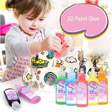 Забавная игрушка для детей DIY 3D клей-краска для стеклянного окна украшение красочная художественная краска DIY игрушка для детей