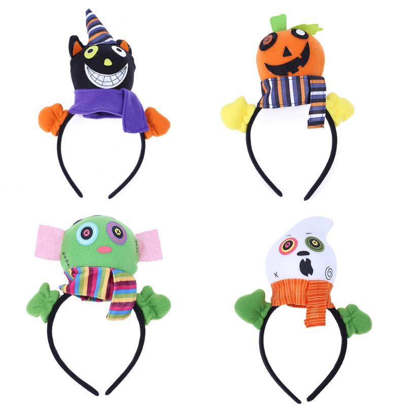 Halloween Gift Pumpkin Hair Clasp Look Style Head Make-up Show Decor Halloween Party Decoration Supplies Funny Gift for Kids