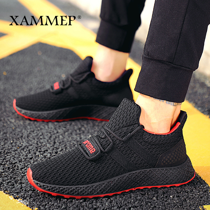 Men Casual Shoes Men Sneakers Brand Men Shoes Male Mesh Flats Loafers Breathable Spring Autumn Slip On High Quality Xammep slip-on shoe