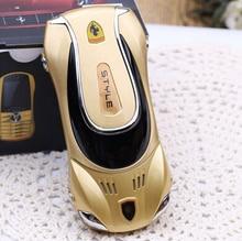 Мини-автомобиль дешевые gsm оригинальный мобильный телефон металлические Китай Телефон Новинка fm сотовые телефоны русский клавиатура сотового телефона H-mobile f1