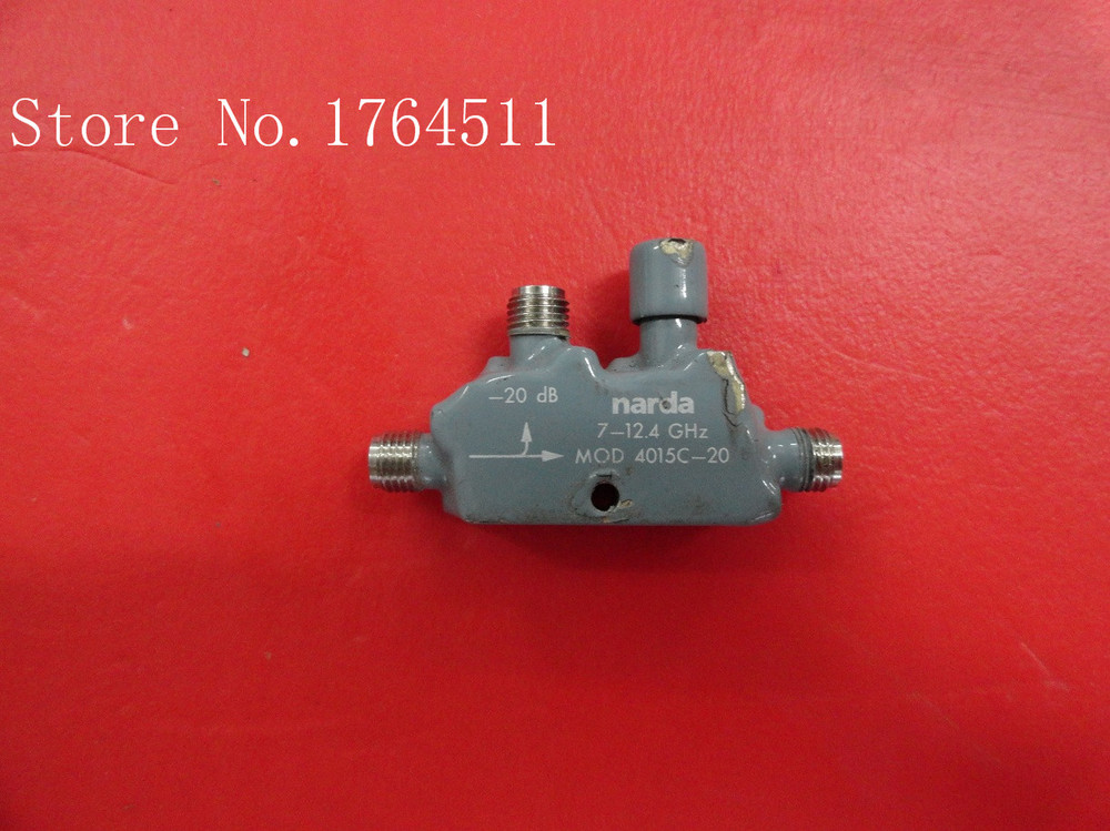[BELLA] Narda 4015C-20 DC-20DB 7-12.4GHZ Supply Directional Coupler