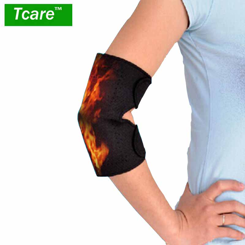 Tcare 1 Pair Tourmaline Elbow Massager Band Self-heating Elbow self-heating elbow thermal tourmaline belt the arm Health Care