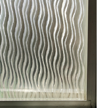 45/60/90 by 200 cm 3D Window Frosted Films Static Self Adhesive Cling Windows Sticker Tint Film for Stripe Wave Pattern