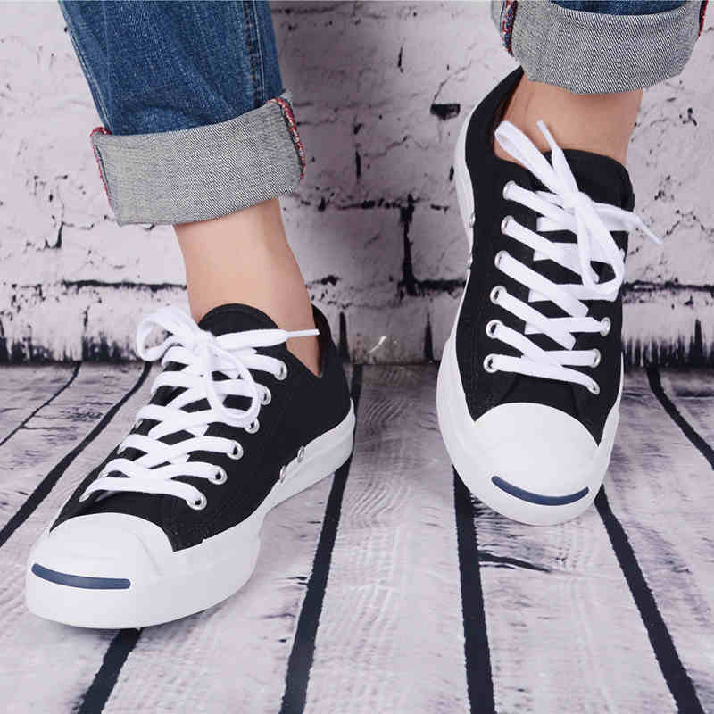 Jack Toile Purcell Style D'origine Baskets Converse Souriant Visage wxpXq