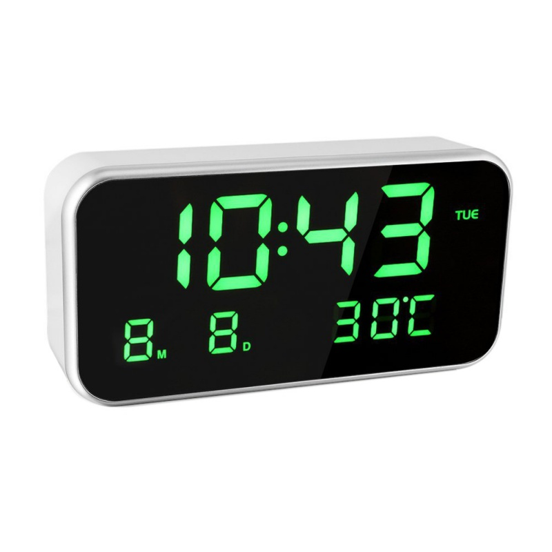 LED Alarm Clock Multifunction Digital Electronic LED Mirror Clock Temperature Snooze Display Home Decor Mirror Function New