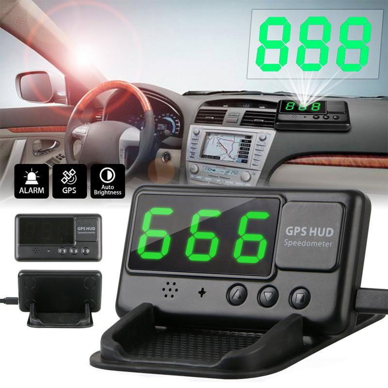 Convenient Overspeed Digital Car GPS Speedometer Warning Universal HUD Head Up Display Speedometer MPH/KM Drop Shipping #0911 цена