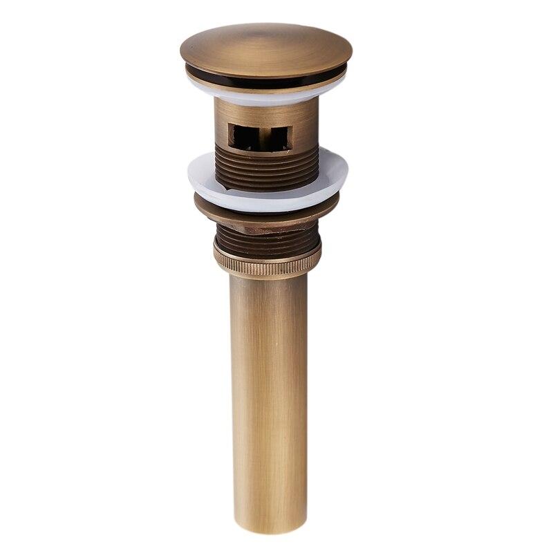 Bathroom Vessel Up Sink Drain Strainer Flip Top Stopper For Lavatory Basin Antique Available For Clog Preventing