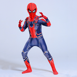 Image 5 - Man Latex Spider Costume for Kids Halloween Superhero Party Cosplay Carnival Spider Boys Fancy Dress
