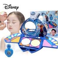 Disney Pretend Play Frozen Elsa Child Cosmetic Princess Makeup Heart Shape Gift Box Lip Gloss Girl Toy For Children Cosmetic Set
