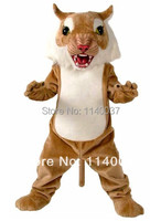 mascot Big Cat Wildcat Mascot Costume Adult Size Wild Animals Character Mascot Outfit Suit Party Fancy Dress Cosply Costume