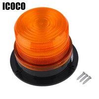 ICOCO DC12V High Power Car Magnetic Mounted Vehicle Police Warning Light LED Flashing Beacon Strobe Emergency