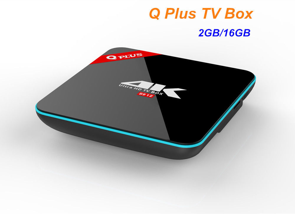 Q Plus Android 6.0 TV Box Amlogic S912 Octa-core 2G/16G Dual WiFi 4K H.265 Smart Set Top Box Media Player android 6 0 tv box t95x amlogic s905x 2g 8g 2g 16g quad core 100lan wifi h 265 16 1 full pre installed media player box