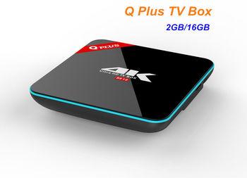 Q Plus Android 6.0 TV Box Amlogic S912 Octa-core 2G/16G Dual WiFi 4K H.265 Smart Set Top Box Media Player