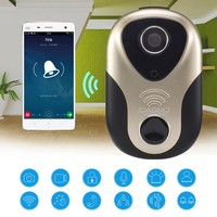 720P HD Video Door Intercom WiFi IP Camera Wireless Alarm Doorbell 163Eye Visual Door Bell Door