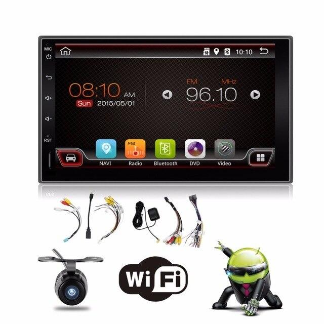 2 din android 6.0 2din Новый универсальный Автомобиль Радио Двойной Плеер Автомобиля GPS Навигация В тире ПК Автомобиля Стерео видео