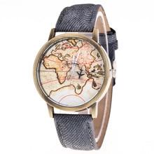 Top brand luxury watch montre femme Relogio Fashion Women's watches World Map Cowboy Band Quartz Wrist Watches Brief Design
