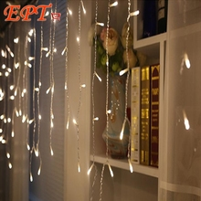 String Lights Christmas Outdoor Decoration 3.5M Droop 0.3-0.6M Curtain Icicle String Led Lights Garden Xmas Party 110V 220V