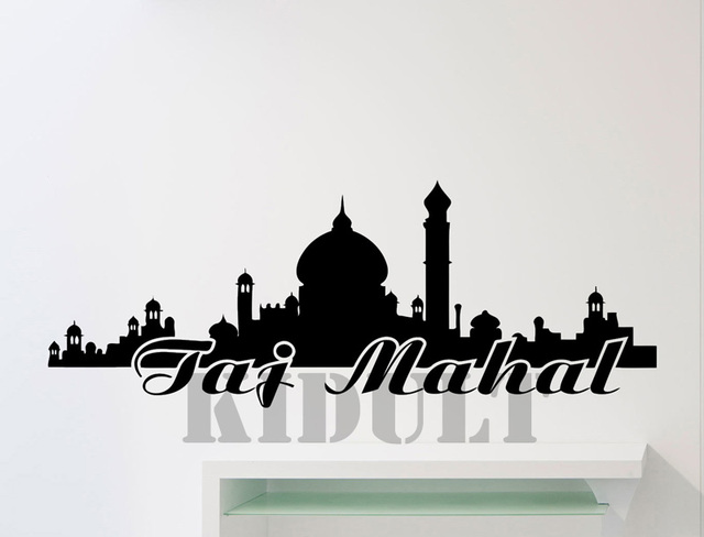 Taj India Castle Wall Decals Landscape Wall Stickers Vinyl - Custom vinyl decals india