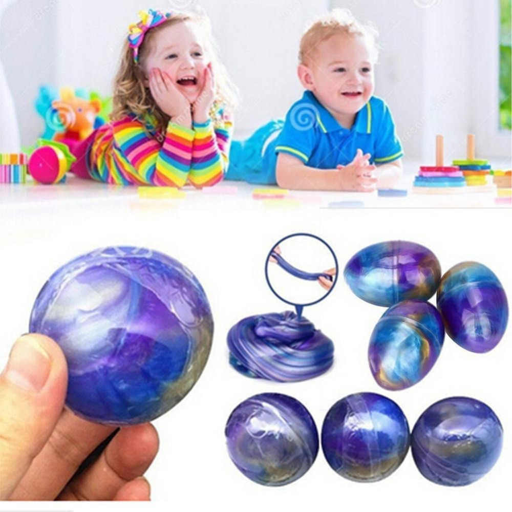 Polymer Clay Egg Colorful Soft Slime  Scented Stress Relief Toy Sludge Toys early learning educational toys