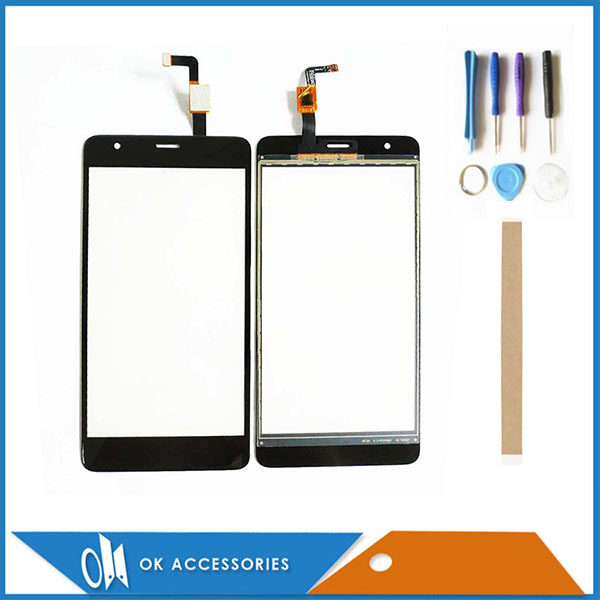 5.5 Inch For Fly Power Plus FHD FS554 Touch Screen Digitizer Panel New Mobile Phone Touchscreen Black Color With Tools Tape