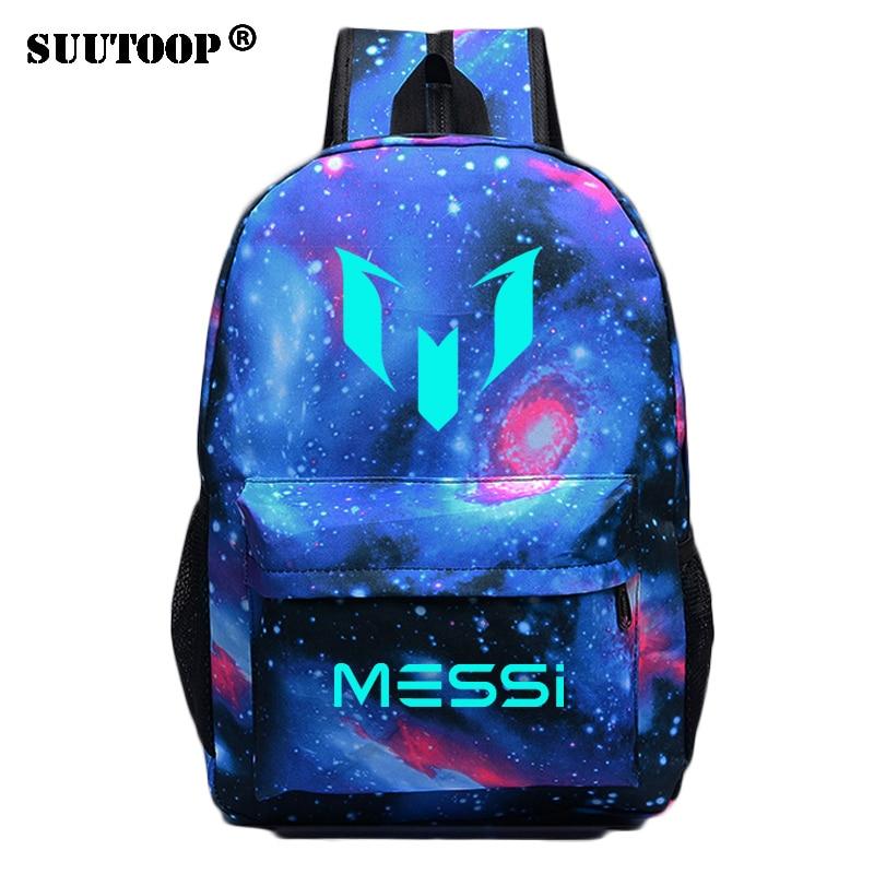 Logo Messi Nacht Leuchtende Rucksack Tasche Männer Jungen Barcelona Mädchen Reisetasche Jugendliche Schule Kinder Bagpack Mochila Bolsas Escolar üPpiges Design Gepäck & Taschen Herrentaschen