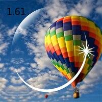 High Index 1.61 Clear lens Optical HMC, EMI Asphere anti UV Myopia hyperopia Prescription lenses, 2 pcs