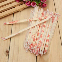 40 Pairs/Bag Chinese Chopsticks Disposable Bamboo Wooden Chopsticks Hashi Individually Wrapped Approx 18cm long(China)