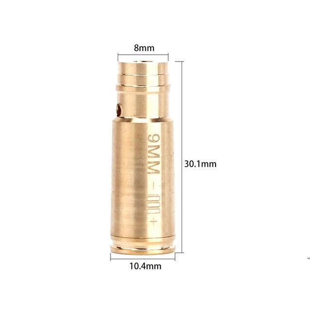 9MM Brass Cartridge Red Laser Bore Sight Collimator BoreSighter  collimator sight  red dot