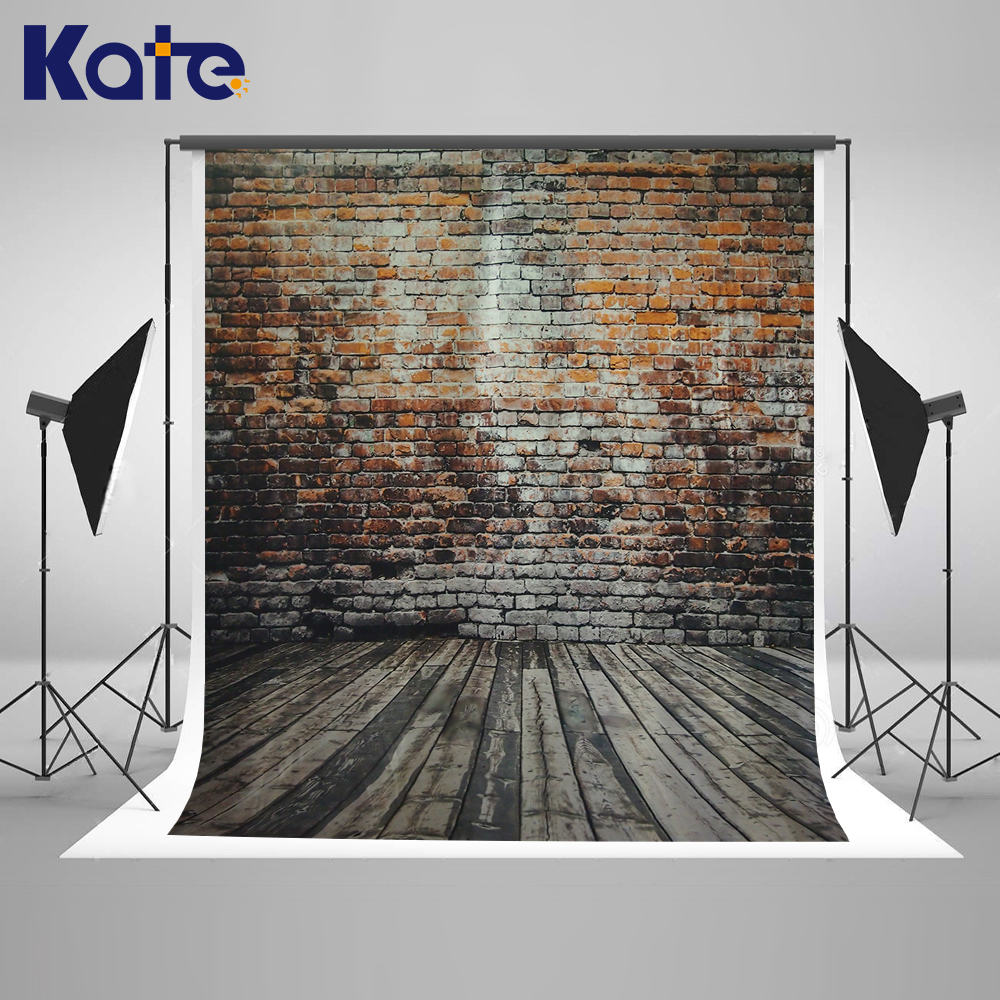 Color booth online - 5x7kate Brick Wall Wooden Photo Background Photography Backdrop Retro Photo Booth Background Children Background Photography