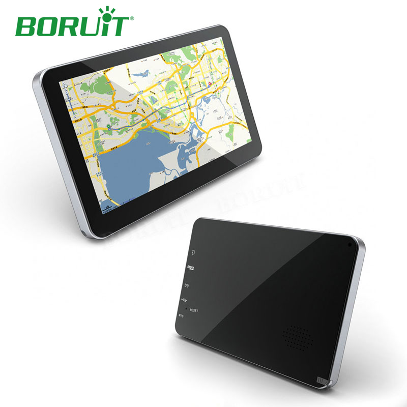 Boruit 7 8GB Navigation System WINCE6.0 Bluetooth Voice Handsfree GPS Audio Multimedia System Touch Screen Vehicle Truck GPS ultra thin 7 touch screen lcd wince 6 0 gps navigator w fm internal 4gb america map light blue