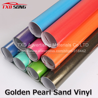 1.52*5m/10m/15m/20m Premium quality Golden Sand pearl Glitter vinyl film with air free bubbles for car wrapping Golden Vinyl