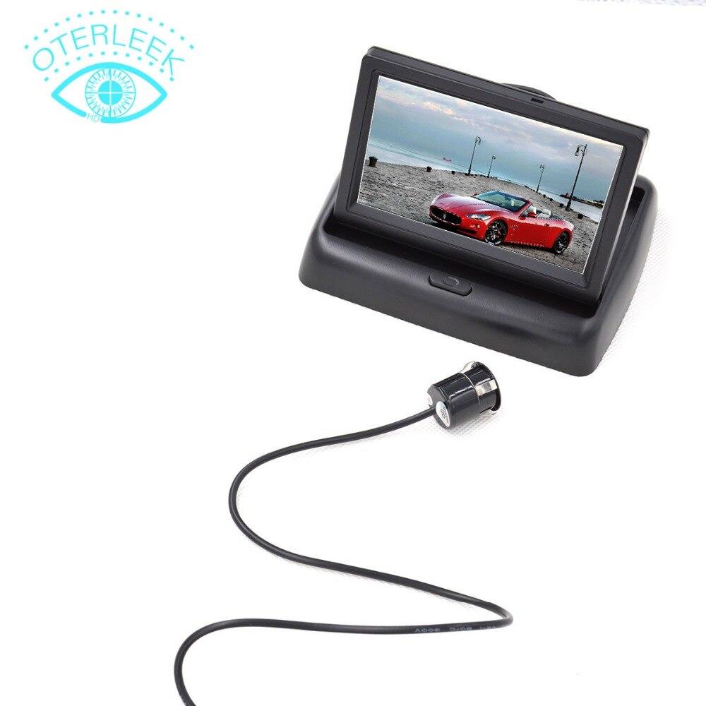 imágenes para 4.3 ''TFT LCD Monitor Del Coche con la Cámara de Visión Trasera CCD de Vídeo Auto Reversa de Reserva de la Cámara de Ayuda Al Aparcamiento de Coches-styling