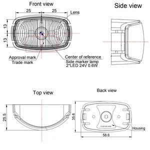 Image 4 - 1 шт. прицеп Светодиодный Боковой габаритный фонарь 24 В 0,6 Вт грузовик задняя фара автомобильный аксессуар лампа грузовик Авто сигнальные лампы Индикатор автофургона