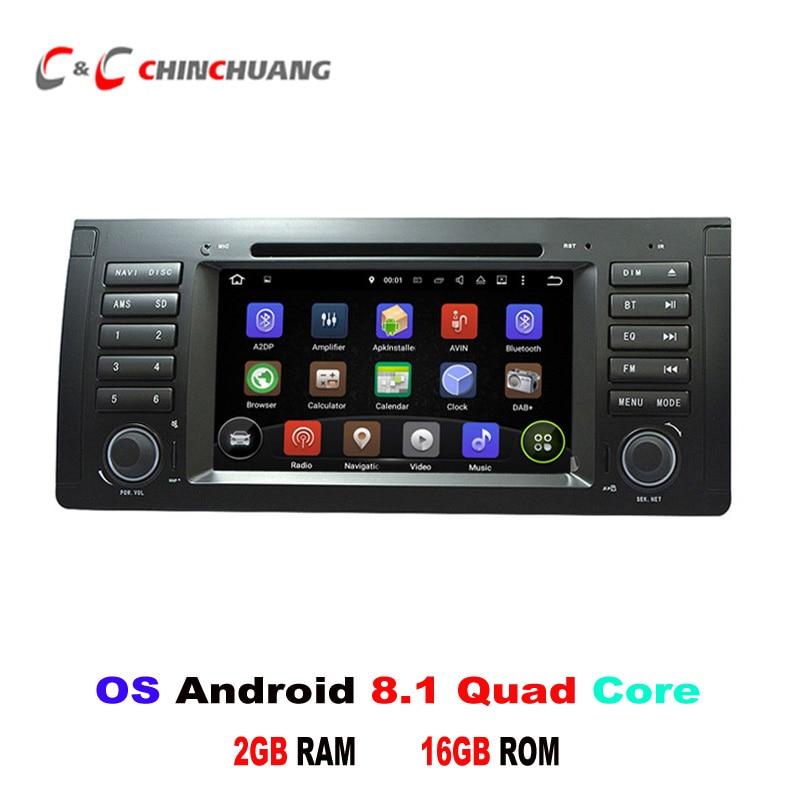 Android 8.1 lecteur DVD de voiture GPS pour BMW série 5 E39 BMW X5 E53 avec Radio Wifi USB/SD BT DVR 4G lien miroir HD écran numérique
