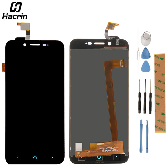 hacrin LCD Screen For ZTE Blade L4 A460 5.0inch LCD Display + Touch Screen Panel Replacement For ZTE Blade D T610 Mobile Phone